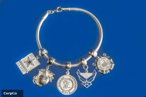 This bracelet is one of many examples of a military family member's journey.
