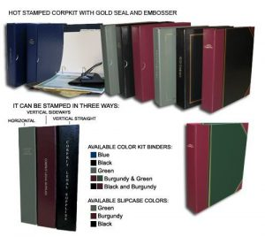 Standard Corporate Kit with contents and various colors available