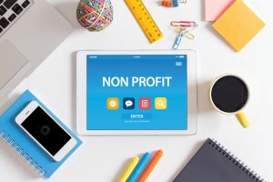 Business Owner Ordering Non-Profit Corporation Formation online with tablet